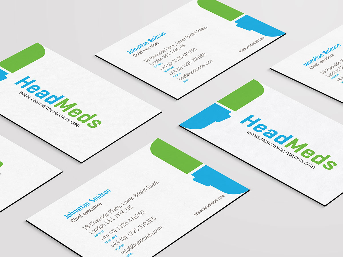 Head Meds business card