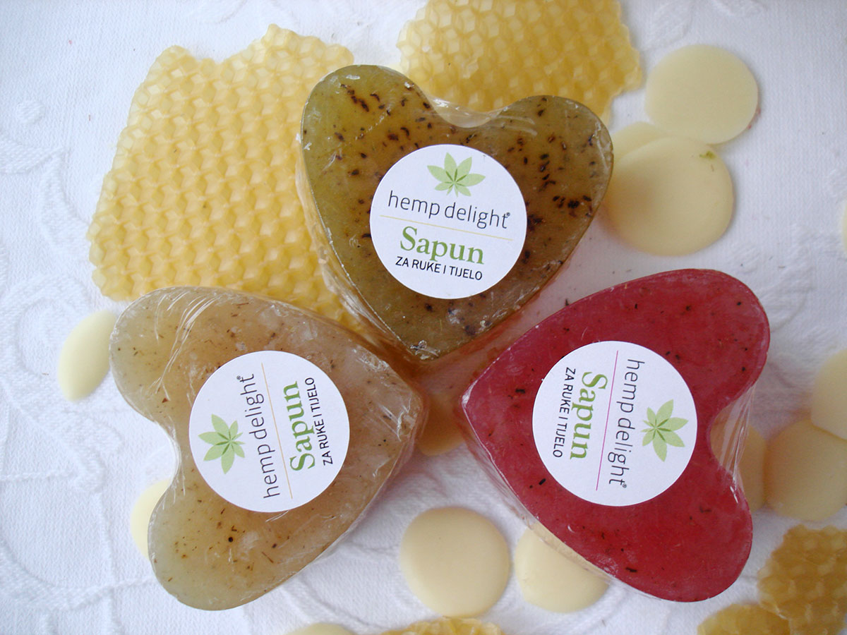 Hemp delight set of glycerin soaps