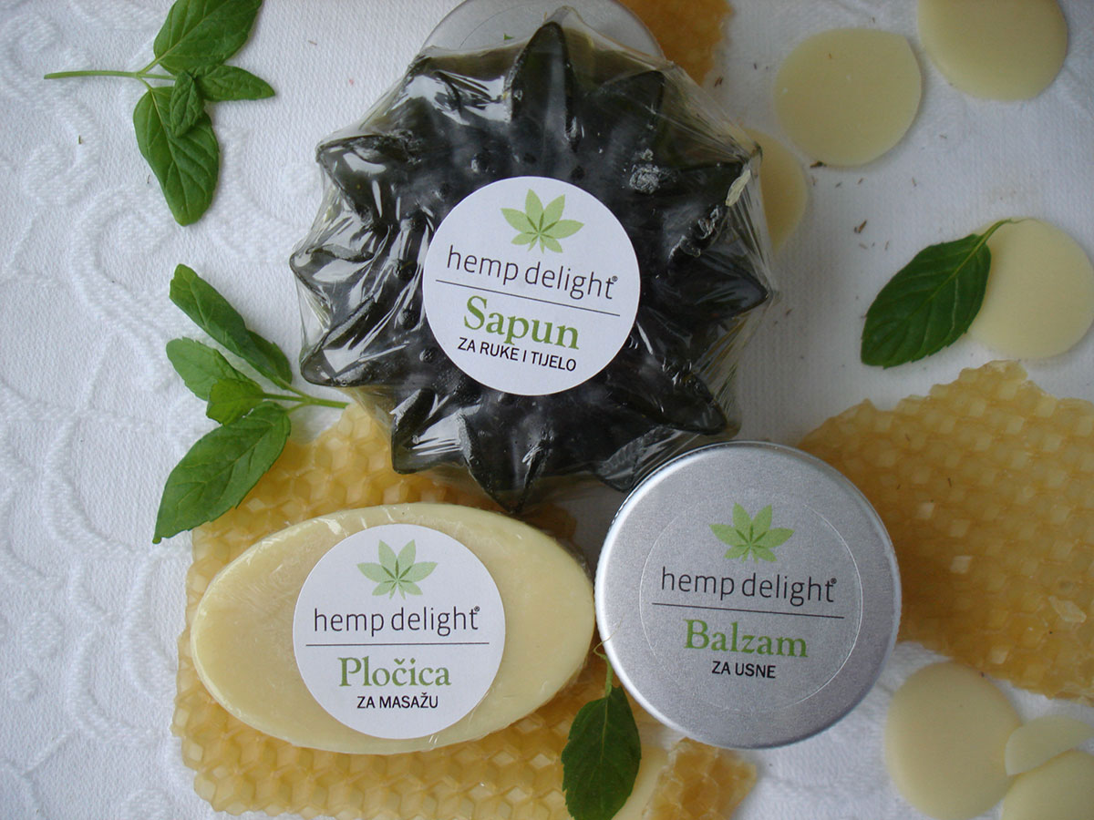 Hemp delight beauty set - mint