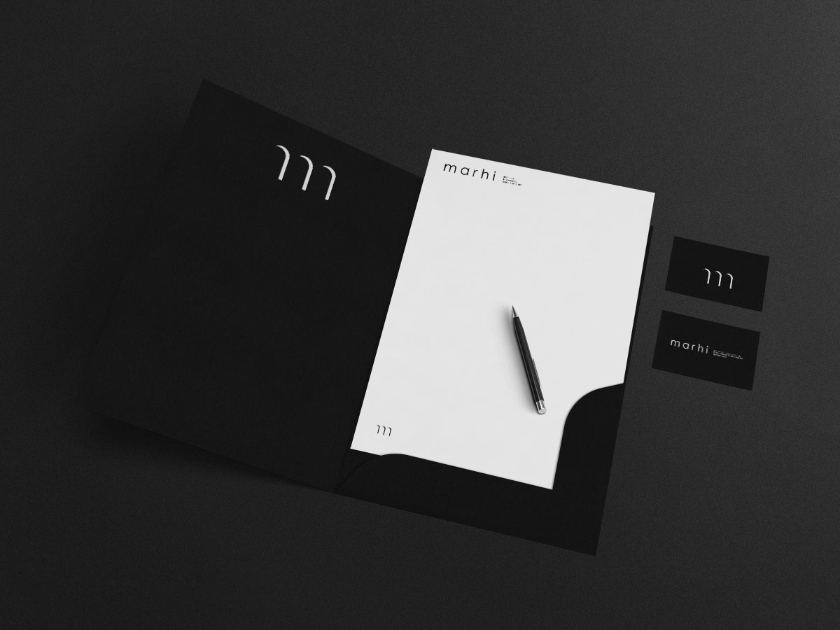 Marhi - folder and business card