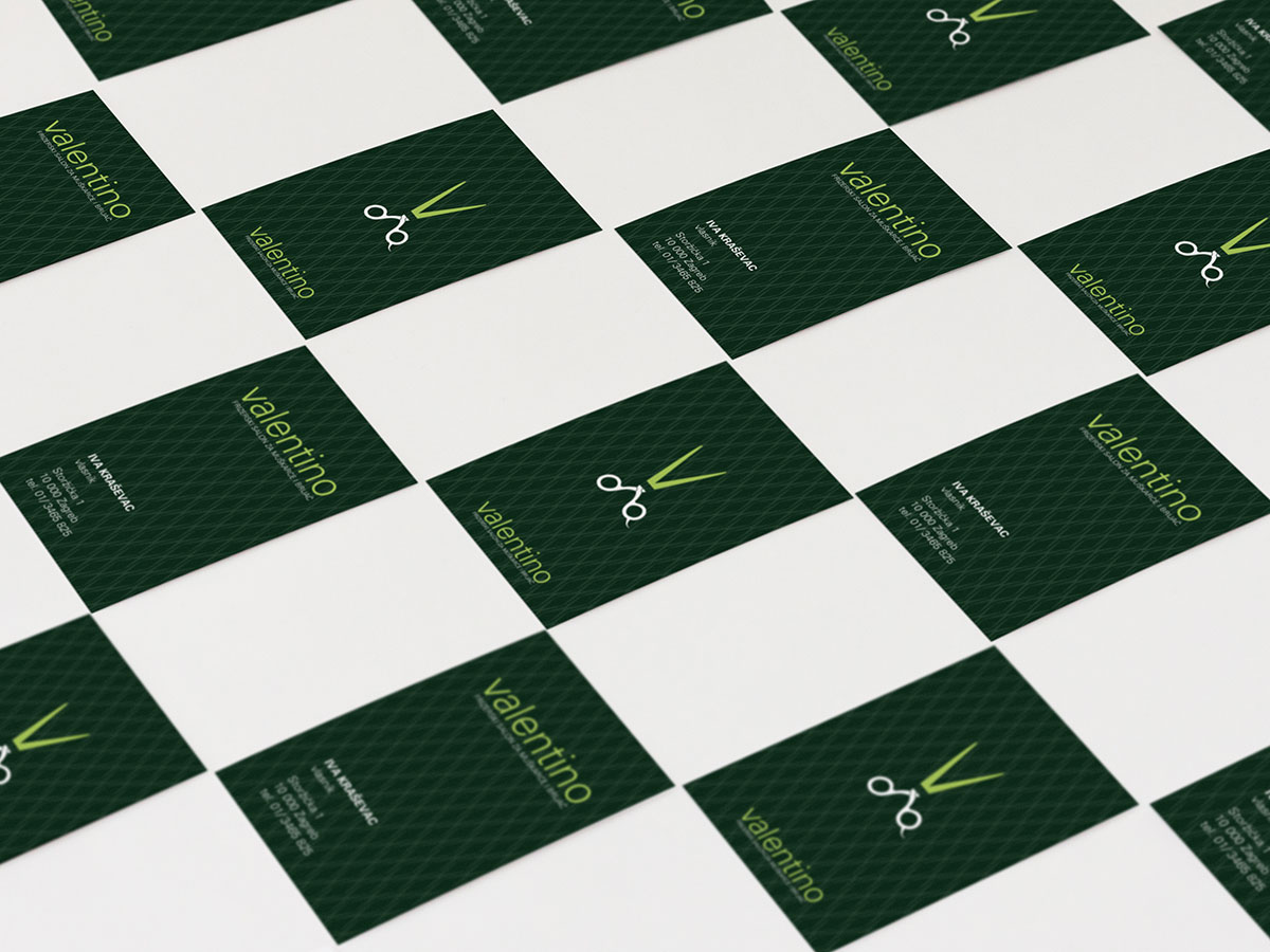 Valentino business cards