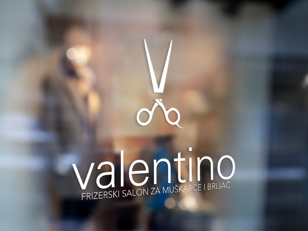 Valentino window sign